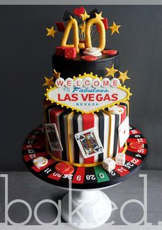 Gleaming birthday cakes las vegas or casino cake 21 near. Tema Las Vegas, Las Vegas Cake, Las Vegas Party, Vegas Theme, Vegas Birthday, 40th Birthday Parties, Casino Theme Parties, Birthday Cakes, 40 Birthday