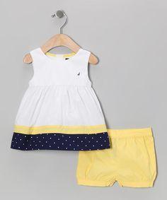 Yellow Polka Dot Tunic & Shorts by Nautica