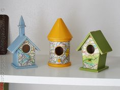 Road Map Birdhouses - Crafts by Amanda