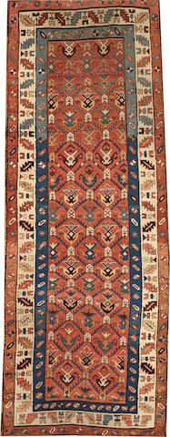 Kazak rug  size approximately 3ft. 7in. x 9ft. 9in.