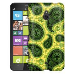 Nokia Lumia 1320 Paisley Green Black on Yellow Slim Case