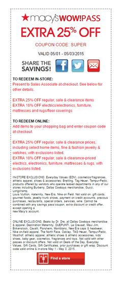 37 Best Macy S Coupon Codes Printable Coupons Images Coupon
