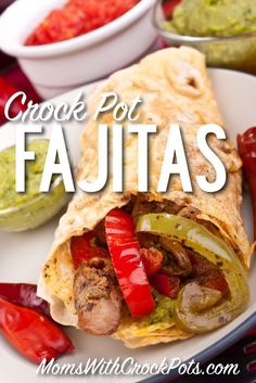 I love fajitas, and this Crock Pot Fajita recipe makes them very easy to have any night of the week. Prep this meal ahead of time and even place it in freezer bags.