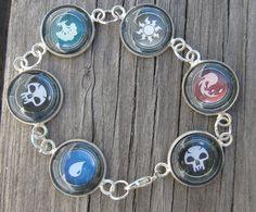 Magic the Gathering charm bracelet  MTG  mana  by MontanaMagic