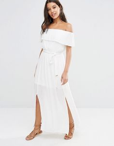 Cheesecloth bandeau dress white