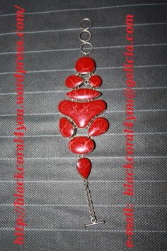 @@@BlackCoral4you Red Coral and Sterling Silver Bracelet / Brazalete de Coral Rojo y Plata 925 http://blackcoral4you.wordpress.com/