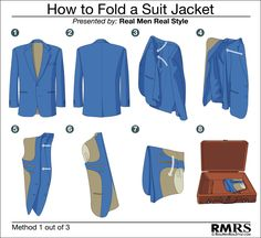 How to fold a suit jacket - method one