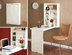 Lit escamotable on pinterest bureaus murphy beds and murals for Petite table escamotable