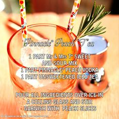 "Pinnacle® Peach ""T""ea recipe"