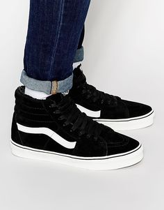 26f6c9674dac7a Vans Sk8 Hi Suede Trainers with Wool lining Vans Shop