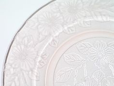 Vintage Pink Depression Glass MacBeth Evans Dogwood Apple Blossom Plate 1929-1932. Starting at $3
