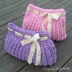 Cute crochet cosmetic bag by Asa Bautovic. Discussion on LiveInternet - Russian Service Online Diaries Crochet Dollies, Quick Crochet, Crochet Handbags, Crochet Purses, Crochet Home, Knit Or Crochet, Cute Crochet, Crochet Baby, Bobble Stitch