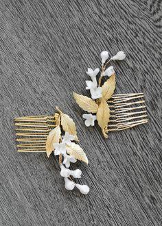 LILY   bridal hair combs