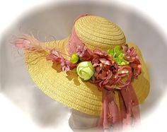 Mauve Kentucky Derby Hat Spring OOAK by Marcellefinery on Etsy, $48.00
