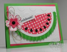 Stampin Up over the top watermelon card. Work of art, and many more and flower shop stamp sets. stampin up punches and more