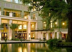 Hotel Contessa - Riverwalk Luxury Suites, San Antonio--a six year old Mediterranian (sp?)-style hotel right on the River Walk. Extra large marble bathrooms and suites for less than the other two hotel rooms I was considering. Already booked for Sept. 3 through 6. Stalkers welcome. (lol)