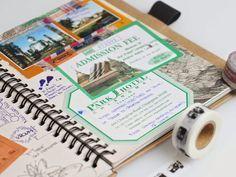 44 Super Ideas For Travel Journal Scrapbook Scrap Travel Journal Pages, Travel Journal Scrapbook, Travel Journals, Travel Books, Smash Book, Bujo Planner, Agenda Planner, Travel Planner, Voyage Rome