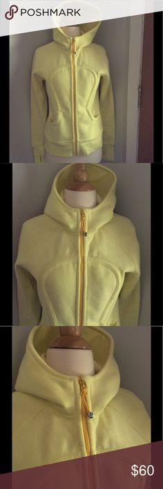 Yellow Scuba Lululemon Jacket - 8 Excellent condition and a gorgeous color. Super soft with thumb holes. I LOVE this but have too much clothing and am downsizing my closet. lululemon athletica Jackets & Coats