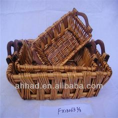 Brown Antique Willow Cheap Wicker Bread Baskets Photo, Detailed about Brown…
