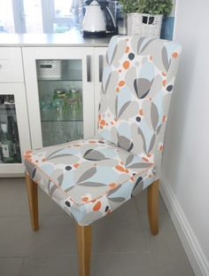 How to re-cover your Ikea dining room chairs. Create custom covers