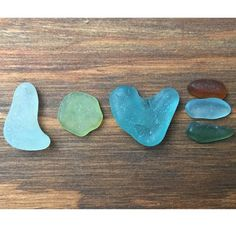 Sea glass love! #love #seaglass #beachglass #seaglassheart #words
