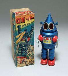 米澤玩具/日本製 ロボット 少年ジェット「前期版・三角ロボット」