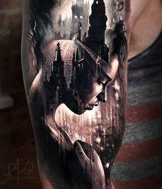 Beautiful Surrealist Double-Exposure Tattoos Mash Up People, Architecture & Natu. - Beautiful Surrealist Double-Exposure Tattoos Mash Up People, Architecture & Nature – KickAss Thin - Chicano Tattoos, Body Art Tattoos, Tattoo Girls, Girl Tattoos, Tatoos, Arlo Tattoo, Tattoo Photography, Neue Tattoos, Full Sleeve Tattoos