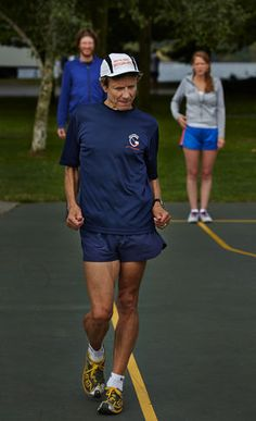 Getting into the swing of racewalking takes concentration: straighten legs, flex toes, move hips, breathe hard Race Walking, Walking Exercise, Breathe, Health Fitness, Track, Racing, Legs, Workout, Mom