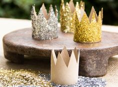 Recycled Cardboard Glitter Crowns by Moonfrye.com