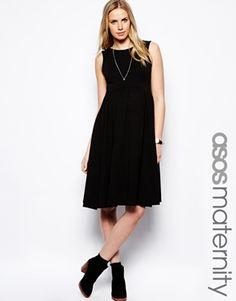 9a9429424e ASOS Maternity Scoop Back Midi Sleeveless Dress Asos Maternity
