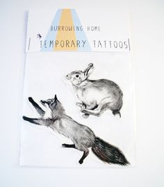Temporary Tattoos Fox and Rabbit  I have no interest in a temporary tattoo, but I think I want a fox with a body like that