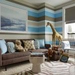 Brown and blue living room decor and blue and brown living room zesty home Boy Room Paint, Living Room Paint, Living Room Decor, Living Rooms, Playroom Paint, Apartment Living, Apartment Therapy, Brown And Blue Living Room, Striped Walls