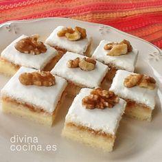CANAPES.- cortadillos de queso y membrillo http://www.divinacocina.es/cortadillos-de-queso-y-membrillo/