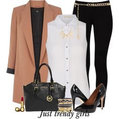 work wear outfit - tan blazer- Fashion work wear for woman http://www.justtrendygirls.com/fashion-work-wear-for-woman/