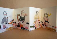 Sewing Circle: Handmade Illustrated Concertina Book with Mixed Media