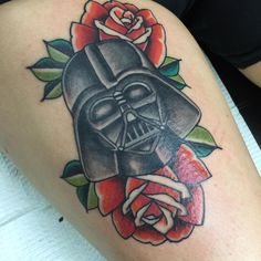 Darth Vader tattoo, traditional, star wars tattoo