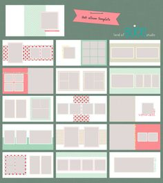 Items similar to Photo Album Template - WHCC Flushmount - 30 pages on Etsy Photo Album Scrapbooking, Mini Scrapbook Albums, Scrapbook Sketches, Web Design, Book Design, Layout Design, Mini Albums, Baby Photo Books, Wedding Album Design