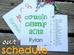 a cousin camp, what a cool idea. we definitely have enough kiddos in this family to do something fun like a cousin camp