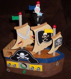 wooden pirate ship would be fun for a boys by SMILESbyMonaLisa