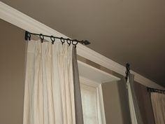 How to Make Your Own Swing Arm Curtain Rod Swings Arms and Window