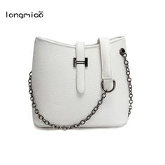 11.12$  Watch here - http://ali6fd.shopchina.info/go.php?t=32662727008 - longmiao Trend Women Bag Quality PU Leather Bucket Small Portable Shoulder Messenger Bags Cheap Personality Chain Handbags  #magazine