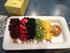 A very hungry caterpillar! My sister made this for my storybook themed baby shower. So cute!