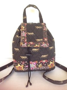 Bag Americana By Sharif Backpack Designer Fashion Floral Animal Quilted Hip Chic #AmericanabySharif #BackpackStyle