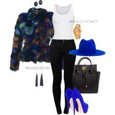A fashion look from February 2016 by stylebydnicole featuring American Vintage, Roberto Cavalli, Noisy May, Giuseppe Zanotti, Michael Kors, Movado, Yves Saint L...
