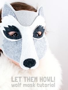 Let Them Howl! DIY Wolf Mask Tutorial