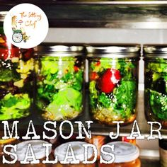 A Weekly Food Prep (on Sunday and/or Monday) is the easiest way to better health. So liven up that same old salad by layering those fresh ingredients into a Mason jar! Perfect for a party or grab and go for lunch. Use your favorite salad recipe and layer accordingly (dressing on the bottom)! You can't go wrong!