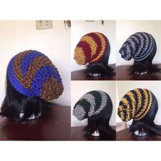 House Pride Knit Slouchy Beanies (23 CAD) ❤ liked on Polyvore featuring accessories, hats, beanie caps, knit cap beanie, slouch beanie, slouchy knit hat and slouchy beanie