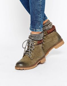 Call It Spring Corcione Khaki Ankle Boots at asos.com