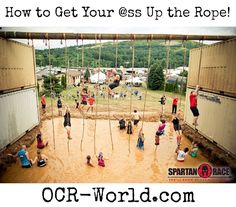 Oh Rope Climb. Many of us have hated you since childhood. We continue to hate you today, whether because you're still kicking our ass, or because we have to wait while you throw down with a b… Spartan Sprint, Spartan Race Training, Obstacle Course Training, Obstacle Course Races, Spartan Race Obstacles, Spartan Trifecta, Spartan Super, Tough Mudder Training, Mud Race