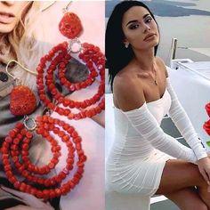 Coral Earrings, Sorrento, Instagram